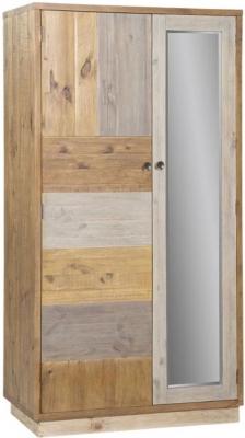 Loft Reclaimed Pine 2 Door Wardrobe with Plinth Base