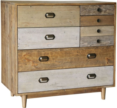 Loft Reclaimed Pine 7 Drawer Chest