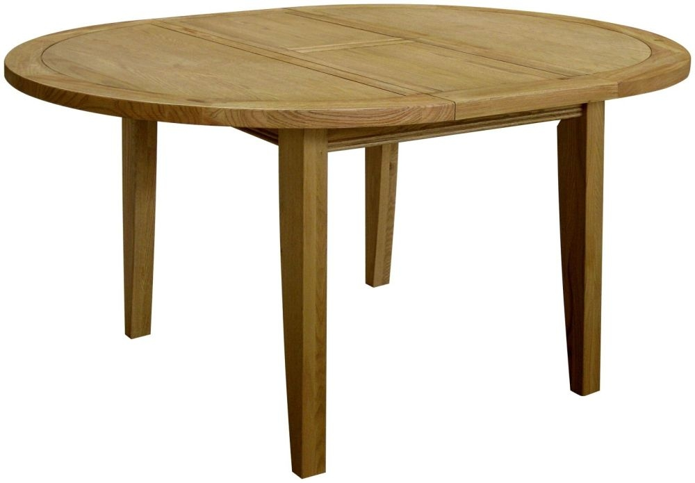 Loire Oak Round Extending Dining Table - 116cm-156cm