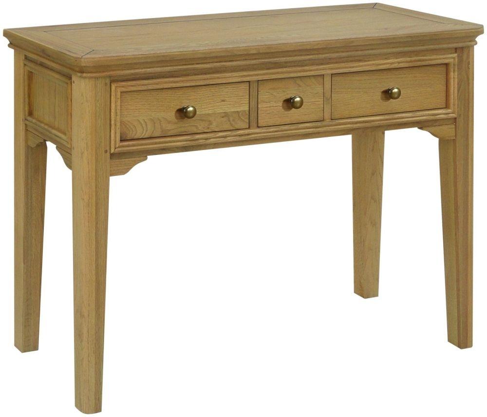 Loire Oak Dressing Table - 3 Drawer
