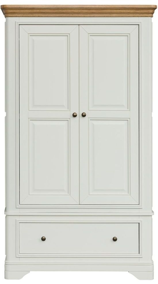 Loire Oak Painted Wardrobe - 2 Door 1 Drawer Gents