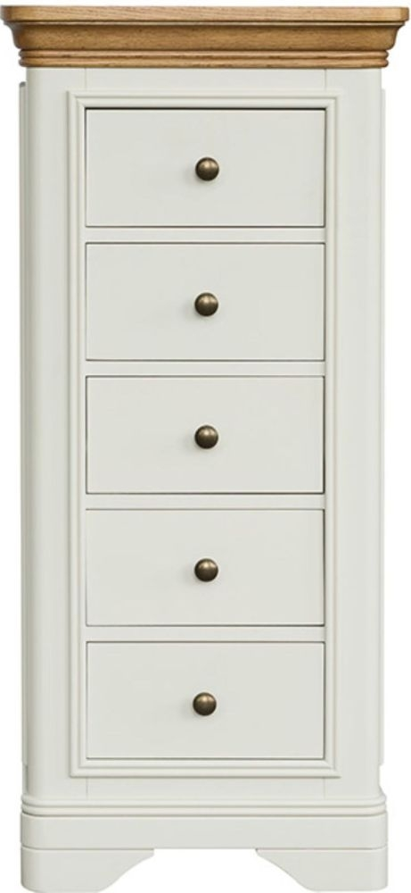 Loire Oak Painted Wellington 5 Drawer Chest