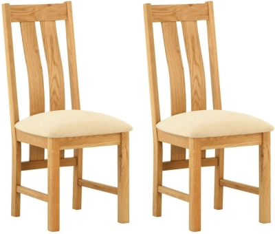 Lundy Oak Dining Chair (Pair)