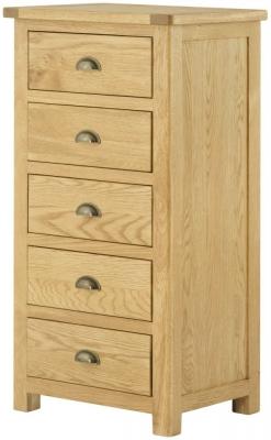 Lundy Oak Wellington Chest of Drawer