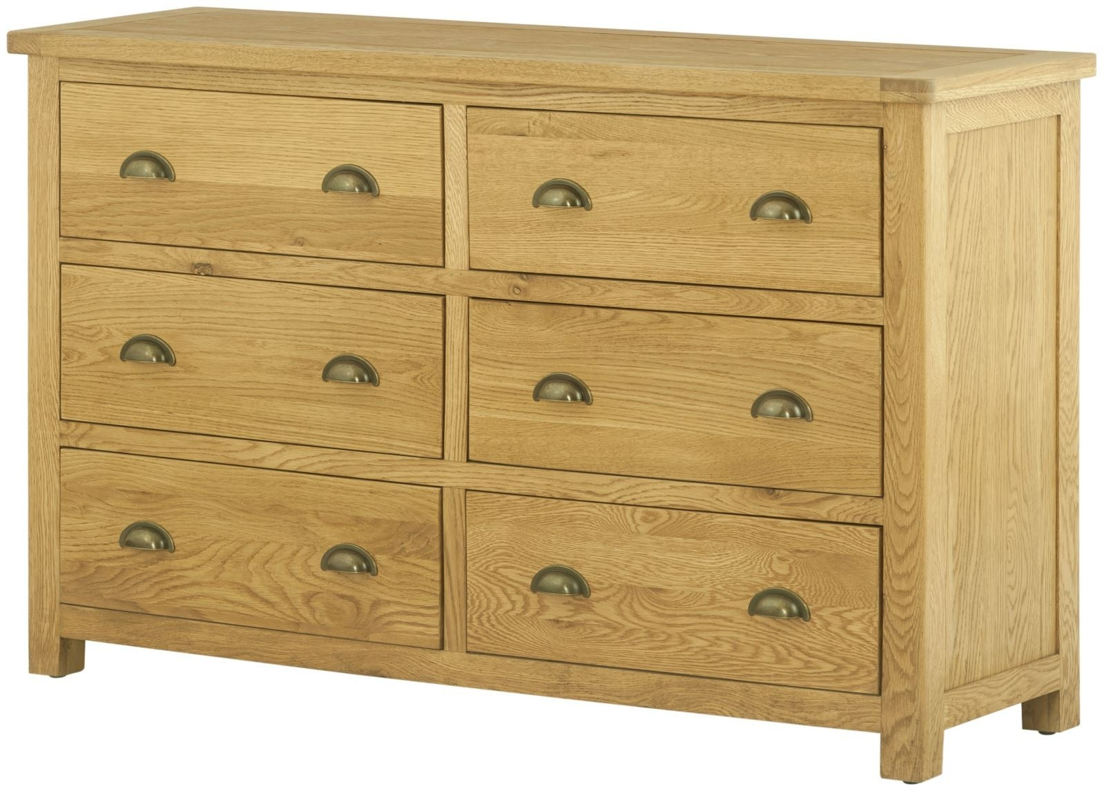 Lundy Oak Chest of Drawer - 6 Drawer