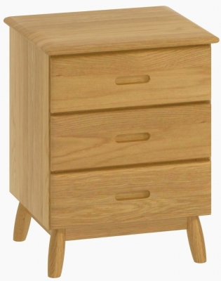 Malmo Oak 3 Drawer Bedside Cabinet