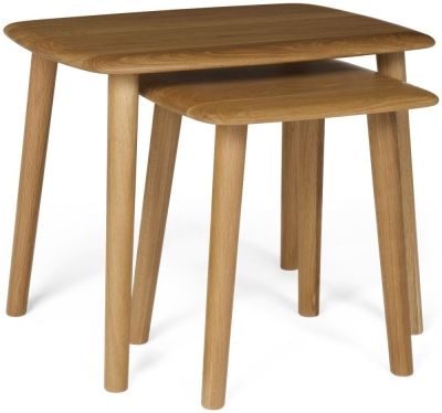 Malmo Oak Nest of 2 Tables