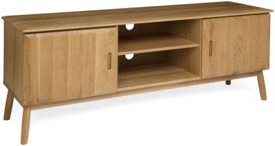 Malmo Oak 2 Door Large TV Cabinet