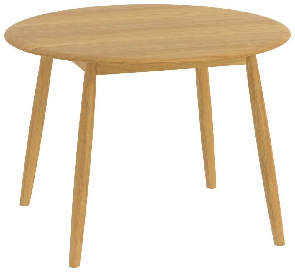 Malmo Oak Round Dining Table - 110cm