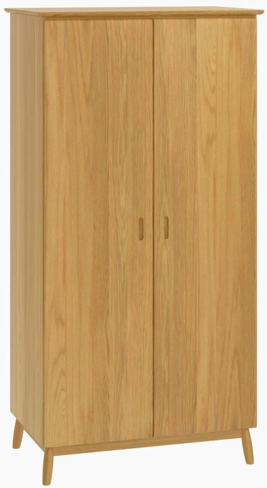 Malmo Oak 2 Door Double Wardrobe