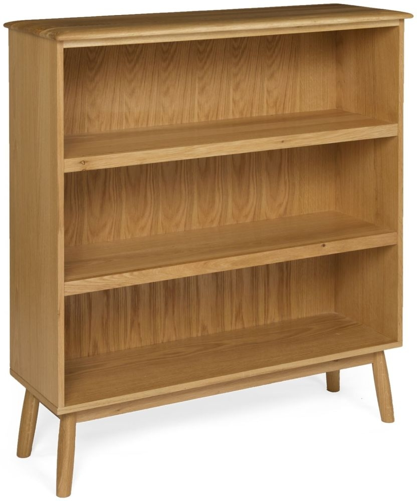 Malmo Oak Wide Bookcase