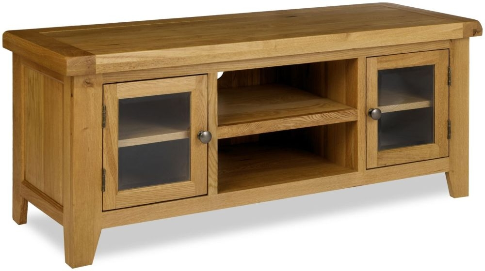 Manor Oak TV Unit - 2 Door Low