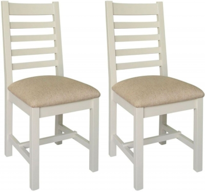 Melton Reclaimed Pine Dining Chair with Fabric Seat (Pair)