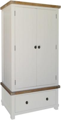 Melton Reclaimed Pine Wardrobe - 2 Door 1 Drawer Double
