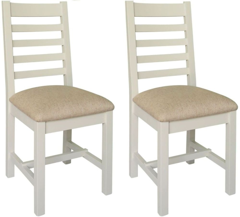 Melton Reclaimed Pine Dining Chair with Cushion Seat (Pair)