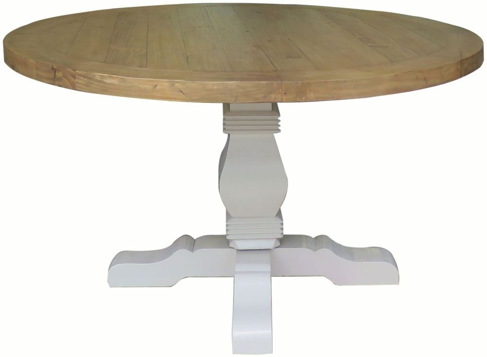 Melton Reclaimed Pine Dining Table - Round Pedestal