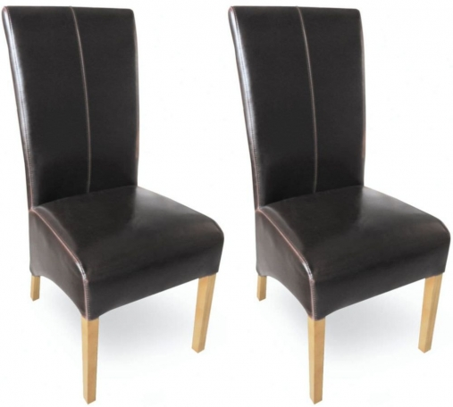 Buy Milano Oak Dining Chair Brown Leather Pair Online  : 1 Milano Oak Dining Chair Brown Leather Pair from www.choicefurnituresuperstore.co.uk size 507 x 456 jpeg 92kB