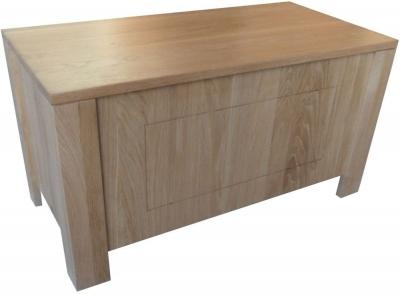 Milano Oak Blanket Box