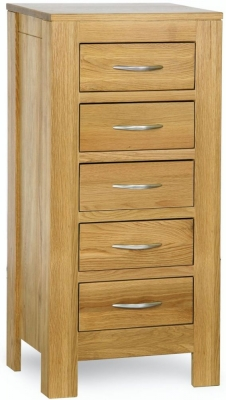 Milano Oak Chest of Drawer - 5 Drawer