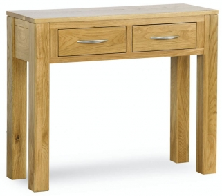 Milano Oak Console Table with Drawers