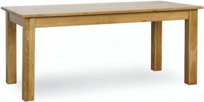 Milano Oak Dining Table - Small Extending