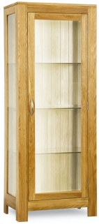Milano Oak Glazed Display Cabinet