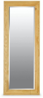 Milano Oak Mirror - Long