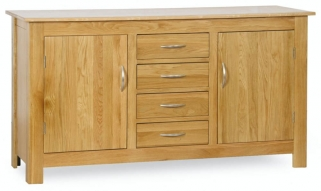 Milano Oak Sideboard - 2 Door 4 Drawer