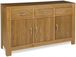 Milano Oak Sideboard - 3 Door