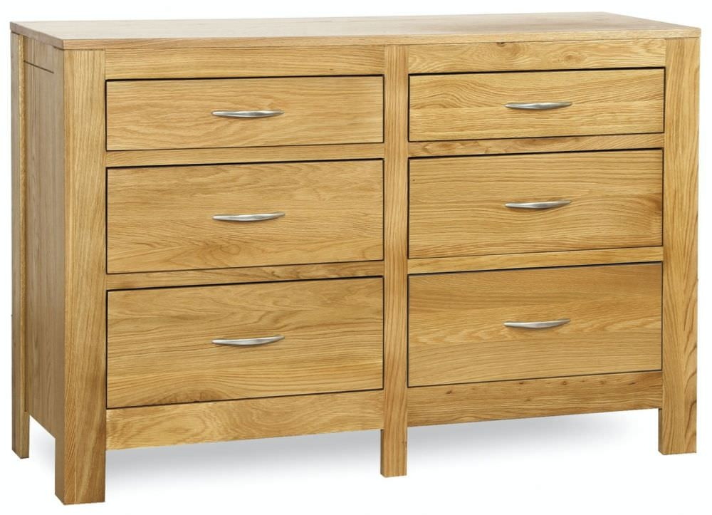 Milano Oak Chest of Drawer - 6 Drawer
