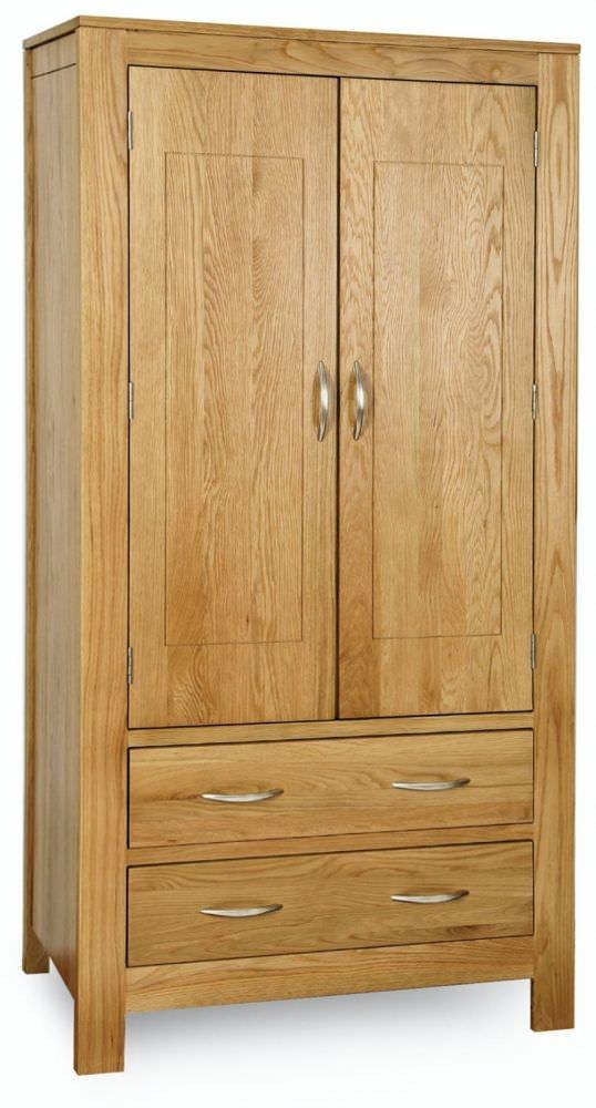 Milano Oak Wardrobe - 2 Door 2 Drawer