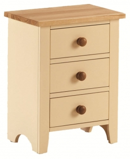 Mottisfont Painted Bedside Cabinet - 3 Drawer
