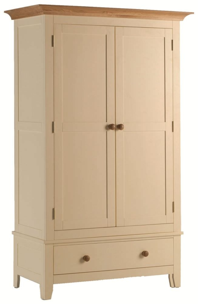 Mottisfont Painted Wardrobe - 2 Door 1 Drawer