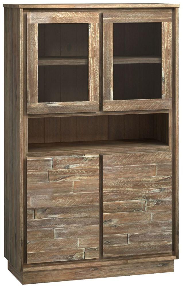 Napoli Display Cabinet - 4 Door Large