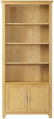 Nordic Oak Cupboard Bookcase