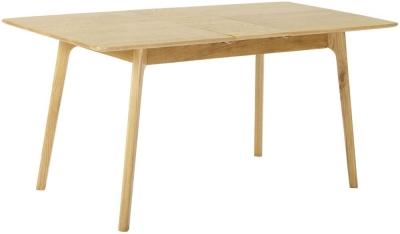 Nordic Oak 130cm-160cm Extending Dining Table