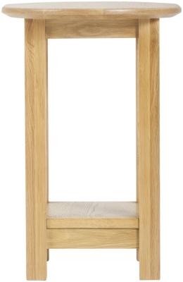 Nordic Oak Oval Lamp Table