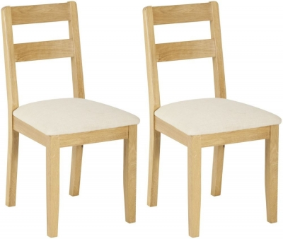 Nordic Oak Low Back Dining Chair (Pair)
