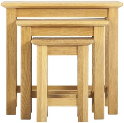 Nordic Oak Nest of 3 Tables