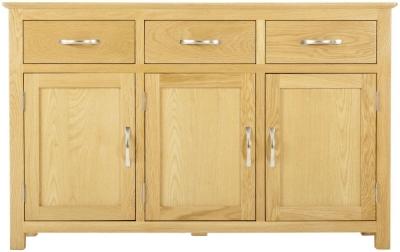 Nordic Oak 3 Door 3 Drawer Sideboard