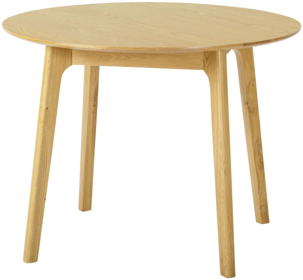 Nordic Oak Round Dining Table - 100cm