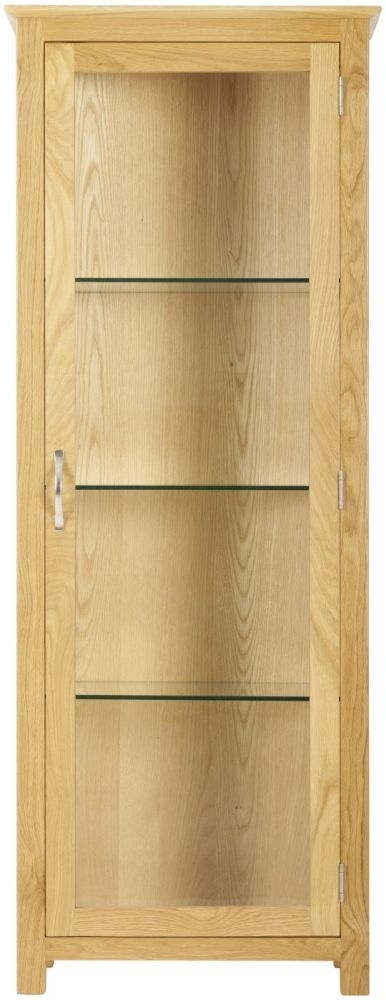Nordic Oak 1 Door Glass Display Cabinet