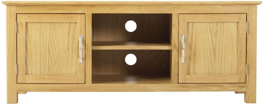 Nordic Oak 2 Door Plasma TV Cabinet