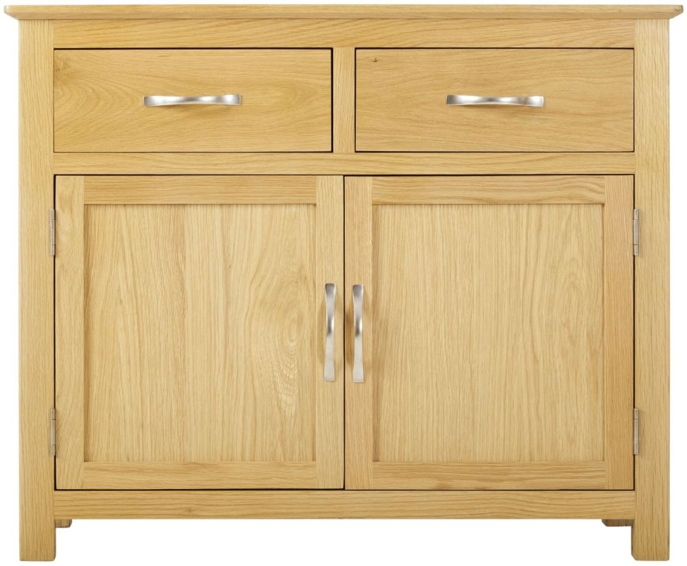 Nordic Oak 2 Door 2 Drawer Narrow Sideboard