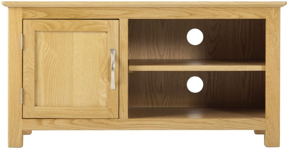 Nordic Oak TV Cabinet - 1 Door