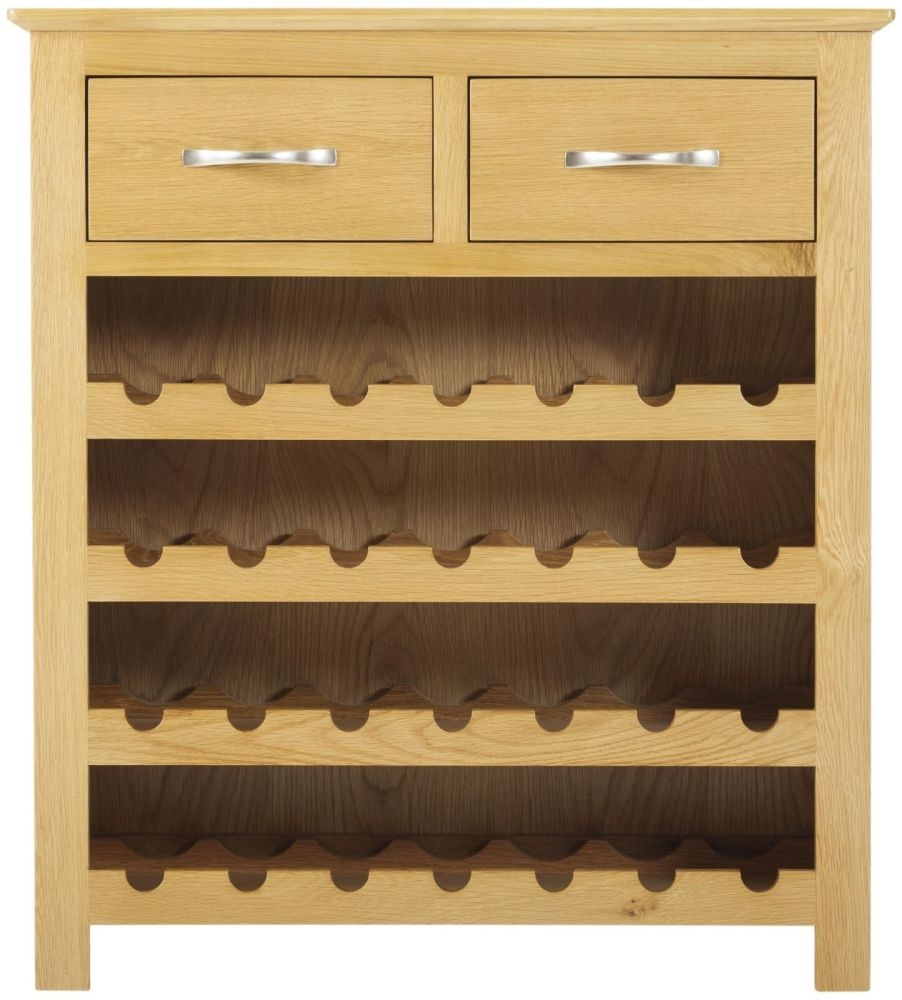 Nordic Oak Wine Cabinet - 2 Drawer