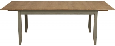 Normandy Oak and Grey Painted 180cm-220cm Extending Dining Table