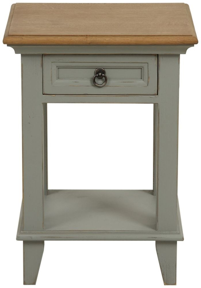 Normandy Painted 1 Drawer Lamp Table