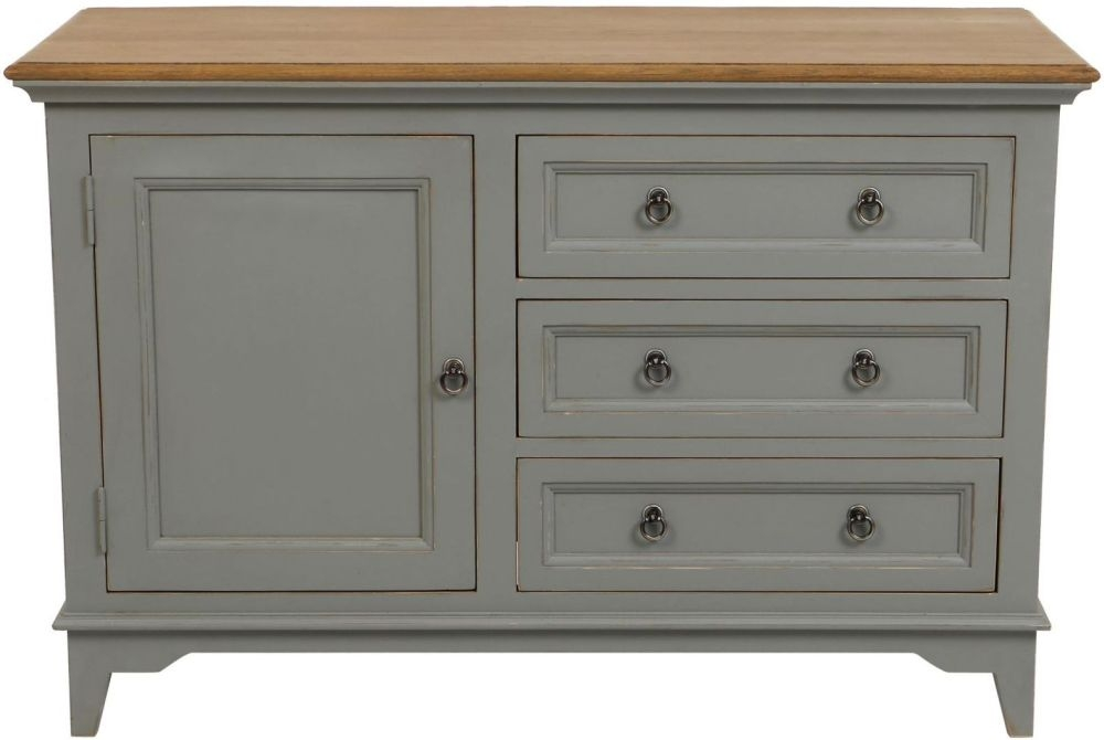 Normandy Oak and Grey Painted Sideboard