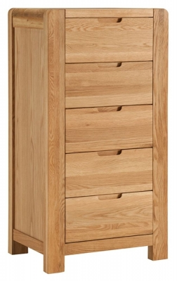 Oslo Oak Wellington Chest of Drawer